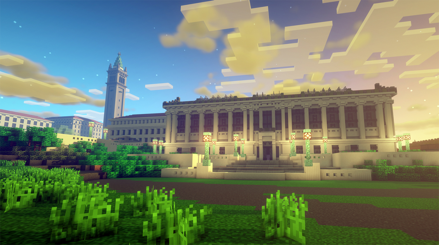 Fiat Blocks: Students use Minecraft to build UC Berkeley (and its