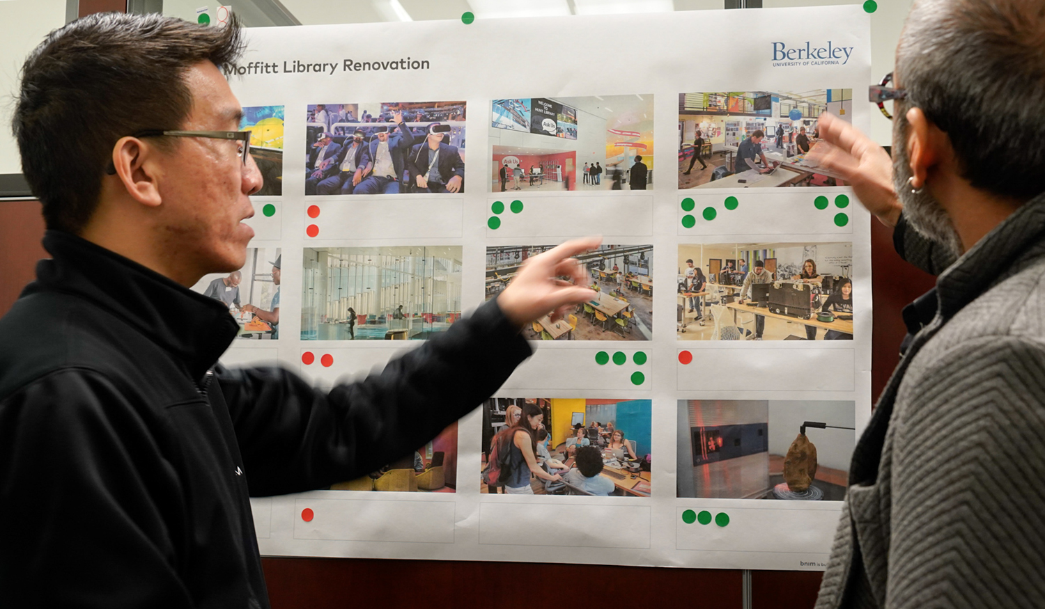Architects, staff and students discuss ideas at a recent meeting about the Center for Connected Learning.