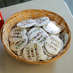 Edible Book Festival buttons