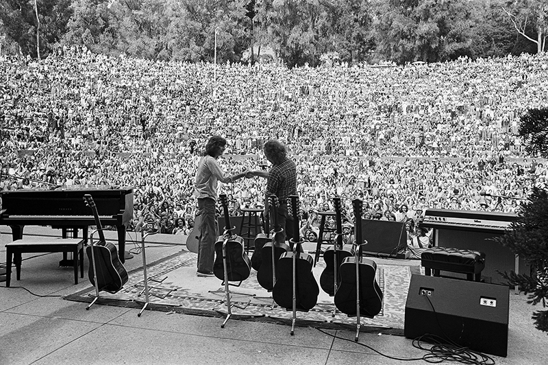 Crosby and Nash, Berkeley Greek Theater, in 1975