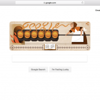 Hannah Glasse is featured in today's Google Doodle. (Google)