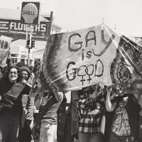 Protest image with gay rights signs