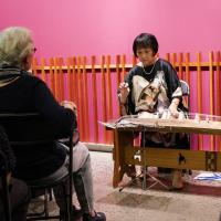 Koto player performing